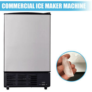 Commercial Ice Maker Undercounter Ice Cube Machine Stainless Steel Freezer New