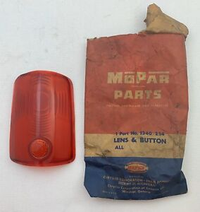 1950 1951 Nos Chrysler Saratoga Windsor New Yorker Imperial Left Tail Light Lens