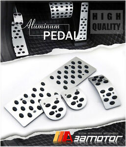 Manual Pedal Set Gas Clutch Brake Footrest For Audi A4 S4 Rs4 A6 S6 Rs6 A8 M T