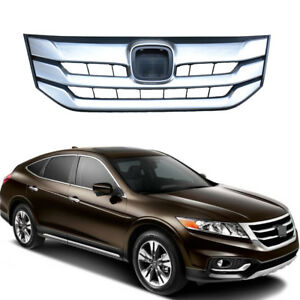 Chrome Grille Front Bumper Hood Radiator For 2013 2018 Honda Accord Crosstour