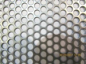 1 4 Holes 16 Gauge 304 Stainless Steel Perforated Sheet 8 X 24