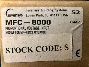 6 Invensys Mfc 8000 Proportional Voltage Input Module For Mf 63123 Actuator