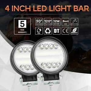 2pcs 4 Inch 300w Round Led Work Light Spot Lights Driving Lamp Headlight Offroad
