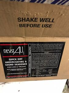 Resist All Quick Dry Undercoat Case Of 12 With Spray Gun Quality Undercoating
