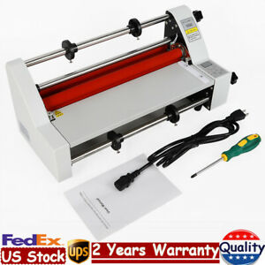13 Laminator Laminating Machine Cold Hot Roll Four Rollers 350mm 110v 700w Usa