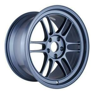 Enkei Rpf1 18x9 5 5x114 3 38mm Offset Matte Blue Single Wheel New