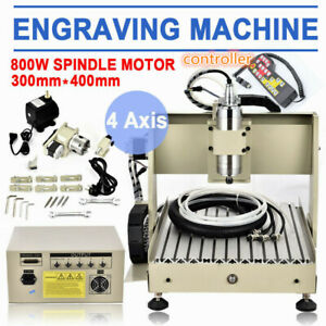 4 Axis 800w Cnc 3040 Router Engraver Engraving Drill Milling Machine controller