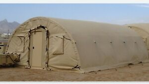 Alaska Structures Military Tent 20 w X 32 5 l X 10 h W Ship Container