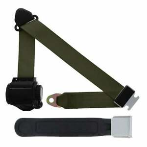 3 Pt Retractable Seat Belt Chrome Lift Latch 12 With Sleeve Military Green