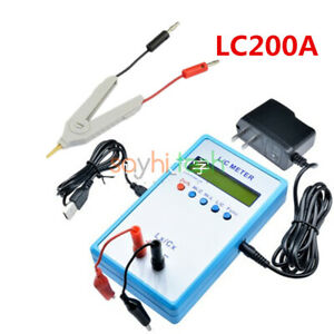 Lc200a Lcd Electric Capacitance Inductance L c Meter Multimeter Cable Clip