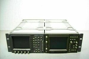 Leader 5872a And Tektronix 1740a Vector Waveform Monitors Power On Sold As Is