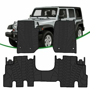 Floor Mats Liners For 2014 2018 Jeep Wrangler Jk Unlimited All Weather 3pc Set