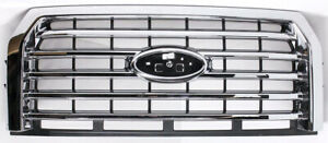 Oem Ford F150 Xlt Chrome Grille Fl3z 8200 Ea Scratches