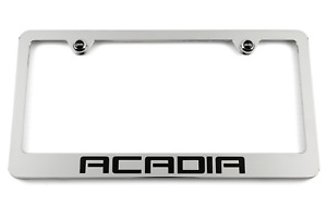 Gmc Acadia Chrome License Plate Frame Gmc Logo Screw Covers Made In Usa