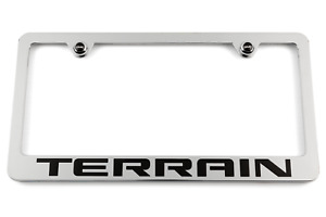 Gmc Terrain Chrome License Plate Frame Gmc Logo Screw Covers Made In Usa