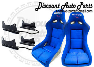 Bride Vios 3 Iii Blue Gradation Seats Low Max Pair W Long Mounts And Sliders
