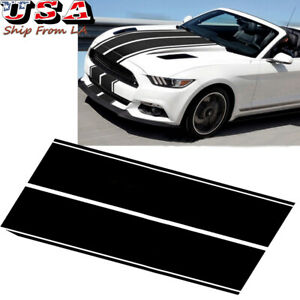 78 7 Black Hood Roof Rally Racing Stripe Decal Vinyl Sticker For Ford Mustang