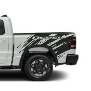 2017 2020 Dodge Ram Rebel Splash Grunge Logo Box Truck Vinyl Decal Graphic Bed