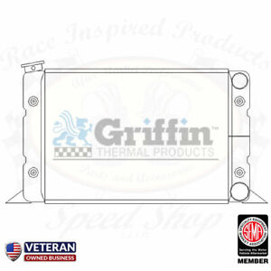 Griffin Aluminum Radiator Scirocco 22 X 13 Inlet Top Right Outlet Bottom Right