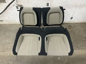 2018 2019 Mustang Gt Coupe Rear Seats Black Cream Cloth Oem