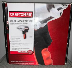 Craftsman 916882 1 2 In Impact Wrench 400 Ft Of Max Torque 7400 Rpn Brand New