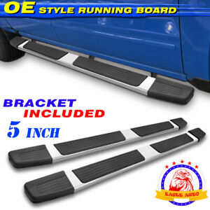For 04 06 Toyota Tundra Double Cab 5 Running Board Side Step Nerf Bar Chrome S