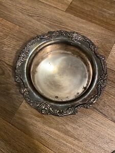Vintage Reed Barton King Francis 1695 Silver Plate Wine Coaster Or Candy Dish