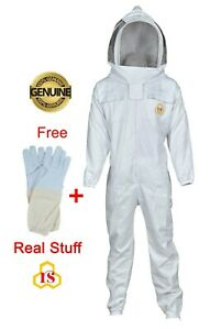 Beekeeper Beekeeping Full Suit Supreme Quality Cotton With Fencing Veil Xl Size