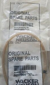 Wacker Jumping Jack Hose assembly Oil Injection Part 5100019506