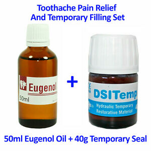 Dental Emergency Toothache Broken Tooth Pain Relief Eugenol Temporary Filling