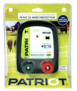 Patriot Pe10b Battery Electric Fence Charger Energizer 10 Miles 40 Acres