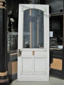 Victorian Entry Door Eastlake Original Glass And Hinges Circa 1870 S