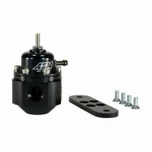 Aem Electronic 25 302bk Universal Adjustable Fuel Pressure Regulator Black New