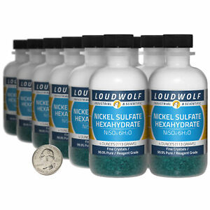 Nickel Sulfate 3 Lbs 12 Bottles 99 9 Pure Reagent Grade Fine Crystals