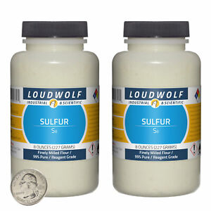 Sulfur 1 Pound 2 Bottles 99 Pure Reagent Grade Finely Milled Flour