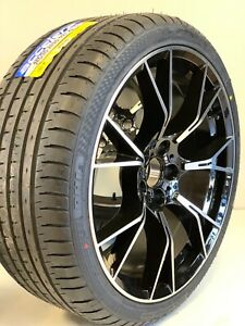 20 Inch Wheels Rims And Tires Fit Bmw M5 F90 Style M6 B7 5x120 Machined Black