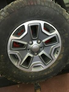 17 2013 18 Jeep Wrangler Rubicon Wheels Tires Oem Rims Factory Sport Unlimited