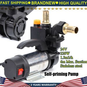 220w Stainless Steel Self Priming Water Pump 24v Jet Pump 6m Suction Max 1 5m3 h