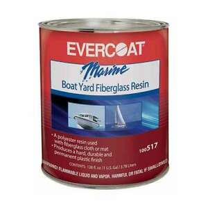 Evercoat 517 Boat Marine Boat Yard Fiberglass Resin 1 Gallon Hardener Included