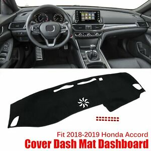 Dash Cover Mat Dashboard Dashmat Carpet Fits 2018 2019 Honda Accord Black