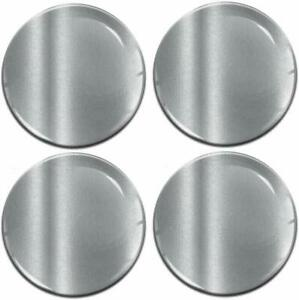 65mm 3d Silicone Stickers Decals Wheel Center Hub Rims Caps Silver Universal
