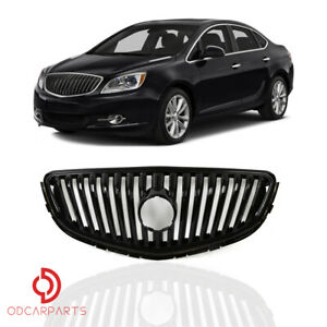 Fits 2012 2013 2014 2015 2016 2017 Buick Verano Front Upper Grille Gloss Black