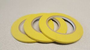 Skmax 1 4 X 60yds Yellow Fine Line Masking Tapes 3 Rolls