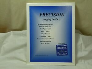 Precision Transparency Film 10 421 Clear Durable 5 Mil 8 5 x11 100 Sheets