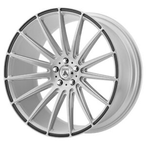 4 New 20x9 Asanti Black Polaris Silver With Carbon Fiber Wheel rim 5x120 Et35