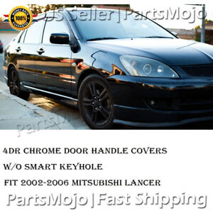 Chrome Door Handle Covers For Mitsubishi Lancer 2002 2003 2004 2005 2006