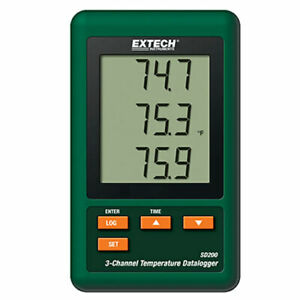 Extech Sd200 3 channel Temperature Thermocouple Data Logger