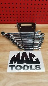 Mac Tools Great Condition 8pc Sae Flex box Wrench Set 6 Point Chlf10 Chlf24