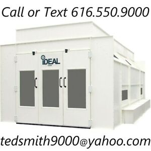 New Ideal Side Down Draft Pressurized Paint Booth 230 460v 26 4 X 17 8 X 9 5