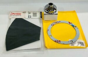 American Shifter Grey Automatic Shift Boot Kit With Chrome Cap Round Boot Ring